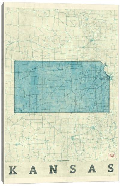 Kansas Map Canvas Art Print