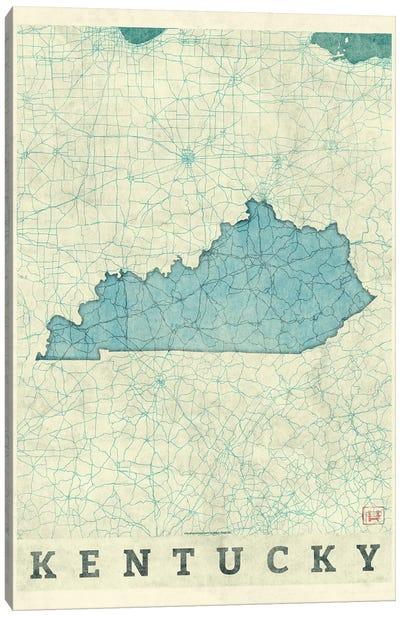 Kentucky Map Canvas Art Print