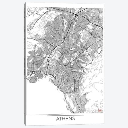 Athens Minimal Urban Blueprint Map Canvas Print #HUR16} by Hubert Roguski Art Print