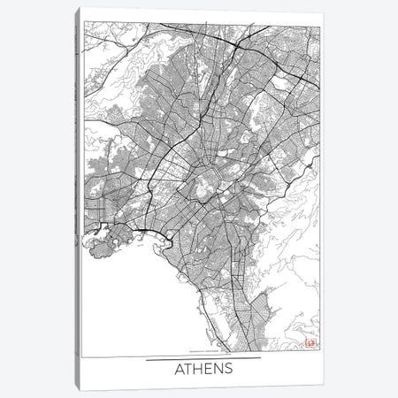 Athens Minimal Urban Blueprint Map Canvas Print #HUR16} by Hubert Roguski Art Print