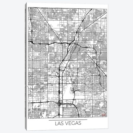 Las Vegas Minimal Urban Blueprint Map Canvas Print #HUR171} by Hubert Roguski Canvas Wall Art