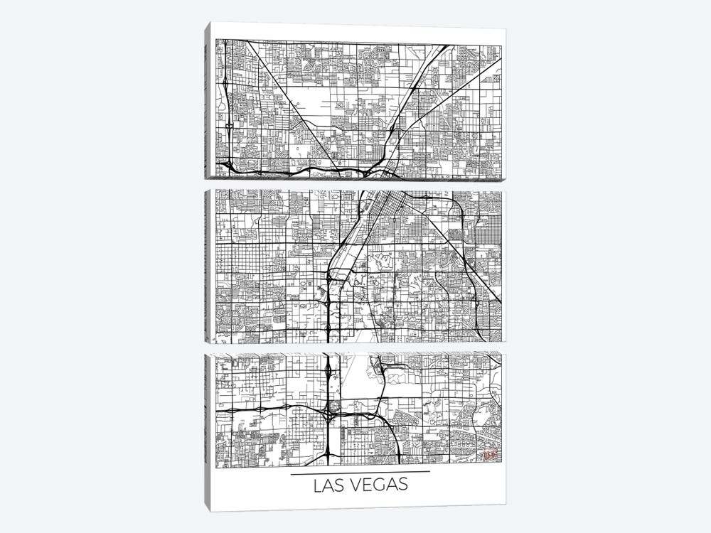 Las Vegas Minimal Urban Blueprint Map by Hubert Roguski 3-piece Art Print