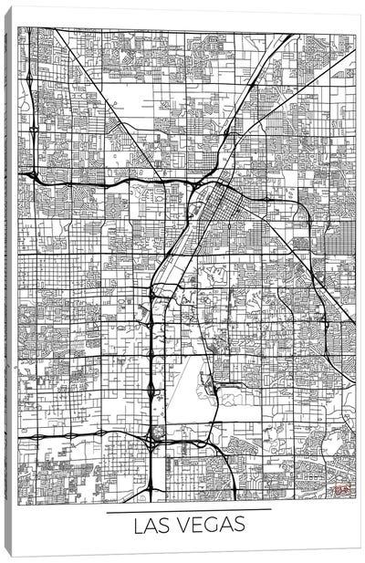 Las Vegas Minimal Urban Blueprint Map Canvas Art Print