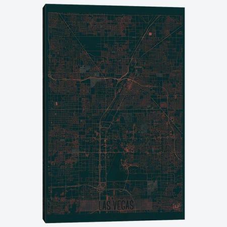 Las Vegas Infrared Urban Blueprint Map Canvas Print #HUR172} by Hubert Roguski Canvas Wall Art
