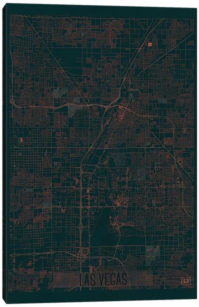 Las Vegas Infrared Urban Blueprint Map Canvas Art Print