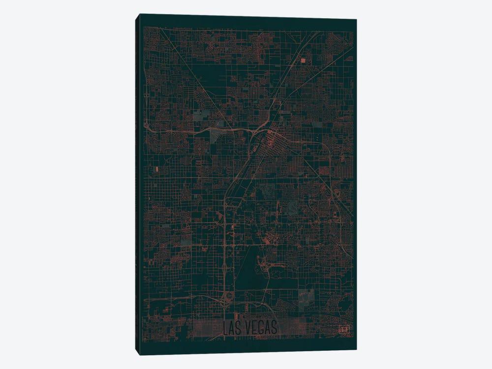 Las Vegas Infrared Urban Blueprint Map by Hubert Roguski 1-piece Canvas Wall Art