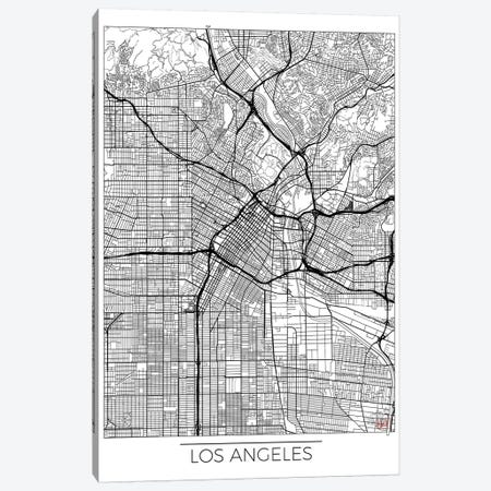 Los Angeles Minimal Urban Blueprint Map Canvas Print #HUR191} by Hubert Roguski Canvas Wall Art