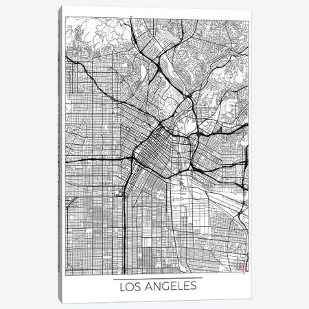 Los Angeles Minimal Urban Blueprint Map Canvas Print #HUR191} by Hubert Roguski Canvas Wall Art
