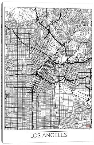 Los Angeles Minimal Urban Blueprint Map Canvas Art Print