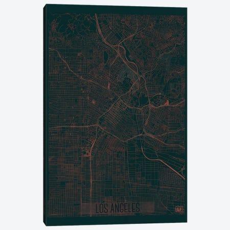 Los Angeles Infrared Urban Blueprint Map Canvas Print #HUR192} by Hubert Roguski Canvas Wall Art