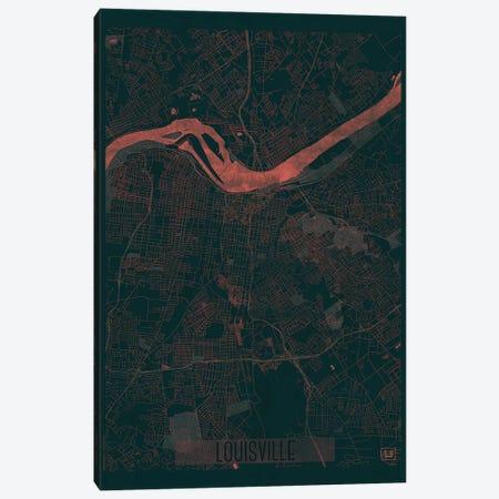 Louisville Infrared Urban Blueprint Map Canvas Print #HUR198} by Hubert Roguski Canvas Wall Art