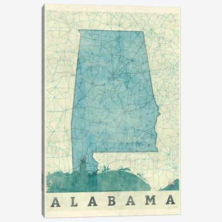 Alabama Map Canvas Print #HUR1} by Hubert Roguski Canvas Art