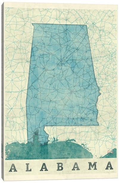 Alabama Map Canvas Art Print