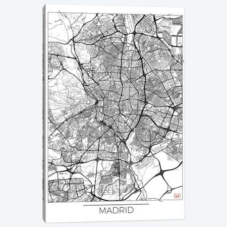 Madrid Minimal Urban Blueprint Map Canvas Print #HUR202} by Hubert Roguski Canvas Wall Art