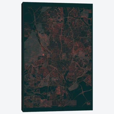 Madrid Infrared Urban Blueprint Map Canvas Print #HUR203} by Hubert Roguski Canvas Art
