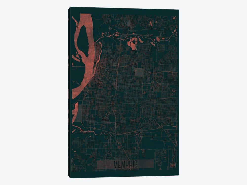 Memphis Infrared Urban Blueprint Map by Hubert Roguski 1-piece Art Print