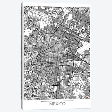 Mexico Minimal Urban Blueprint Map Canvas Print #HUR218} by Hubert Roguski Canvas Art Print