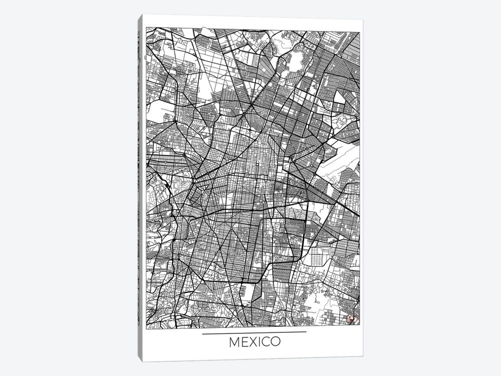 Mexico Minimal Urban Blueprint Map by Hubert Roguski 1-piece Canvas Art