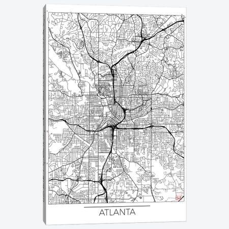 Atlanta Minimal Urban Blueprint Map Canvas Print #HUR21} by Hubert Roguski Art Print