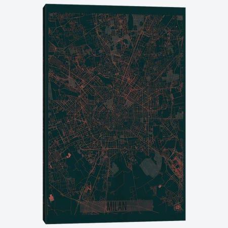 Milan Infrared Urban Blueprint Map Canvas Print #HUR227} by Hubert Roguski Canvas Art Print