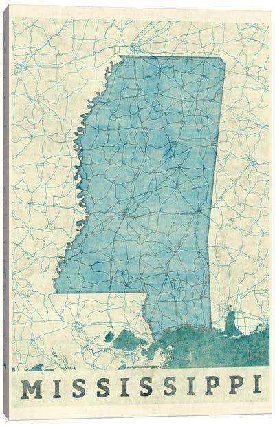 Mississippi Map Canvas Art Print