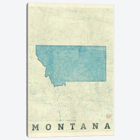 Montana Map Canvas Print #HUR243} by Hubert Roguski Canvas Wall Art