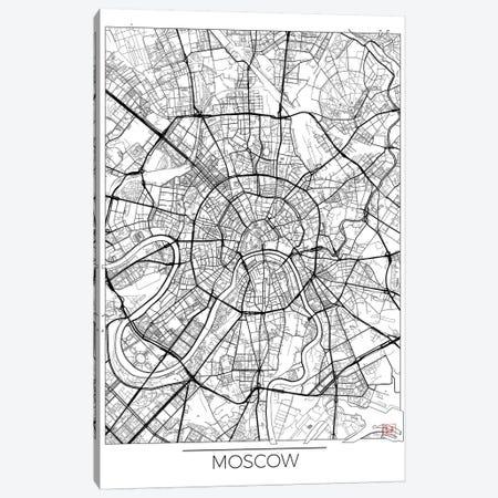Moscow Minimal Urban Blueprint Map Canvas Print #HUR245} by Hubert Roguski Canvas Art Print