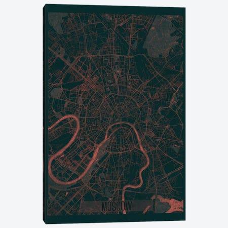 Moscow Infrared Urban Blueprint Map Canvas Print #HUR246} by Hubert Roguski Canvas Print