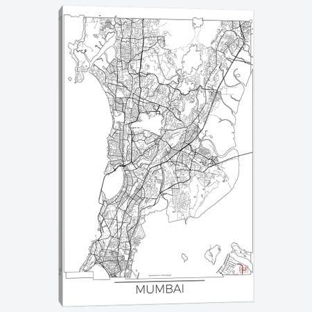 Mumbai Minimal Urban Blueprint Map Canvas Print #HUR250} by Hubert Roguski Canvas Print