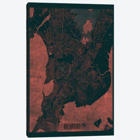 Mumbai Infrared Urban Blueprint Map Canvas Print #HUR251} by Hubert Roguski Art Print