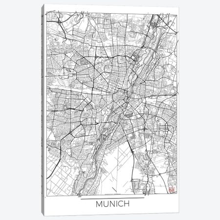 Munich Minimal Urban Blueprint Map Canvas Print #HUR255} by Hubert Roguski Canvas Artwork