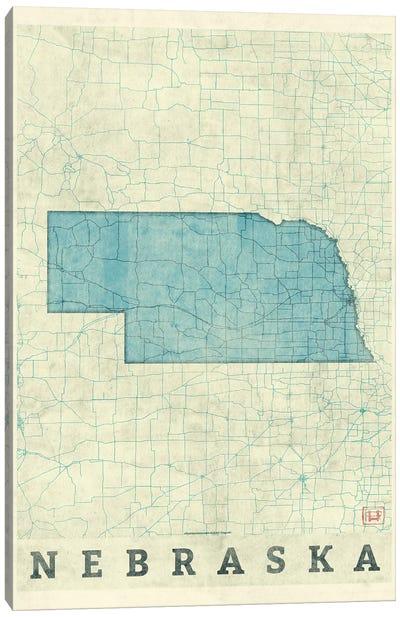 Nebraska Map Canvas Art Print