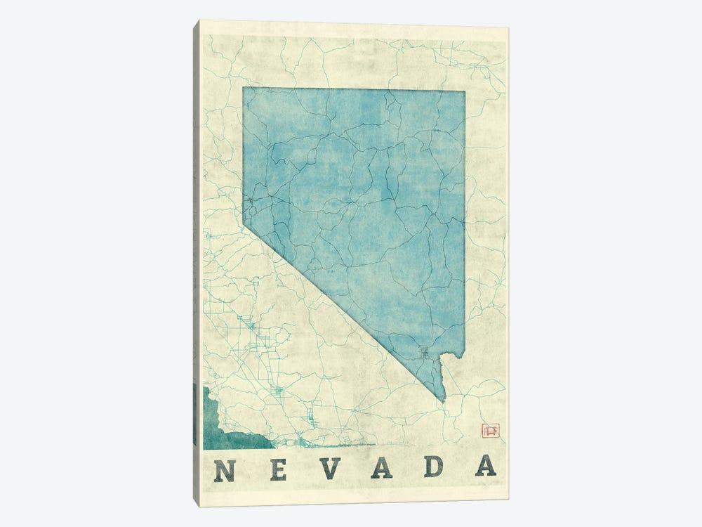 Nevada Map by Hubert Roguski 1-piece Canvas Artwork