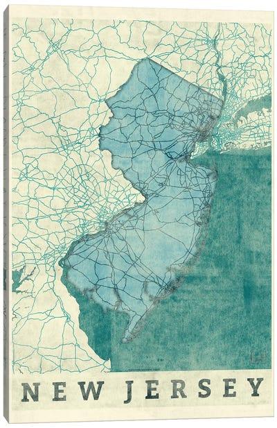 New Jersey Map Canvas Art Print