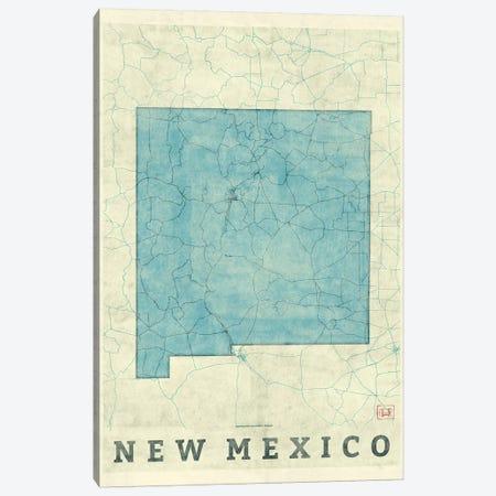 New Mexico Map Canvas Print #HUR268} by Hubert Roguski Canvas Wall Art