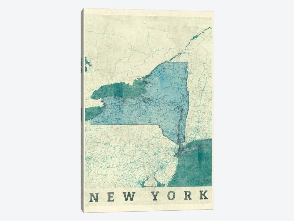 New York Map by Hubert Roguski 1-piece Canvas Wall Art