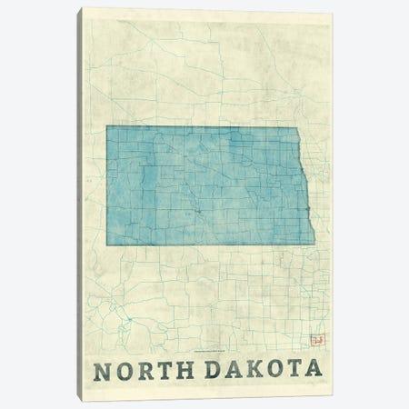 North Dakota Map Canvas Print #HUR281} by Hubert Roguski Canvas Art