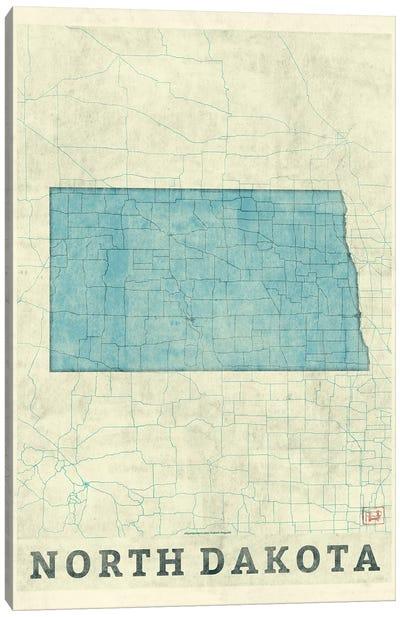 North Dakota Map Canvas Art Print