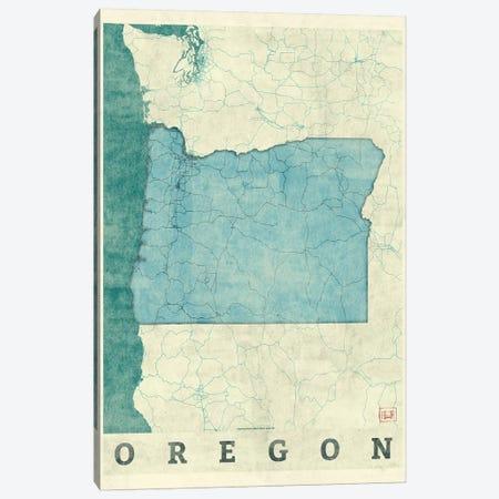Oregon Map Canvas Print #HUR284} by Hubert Roguski Canvas Art Print