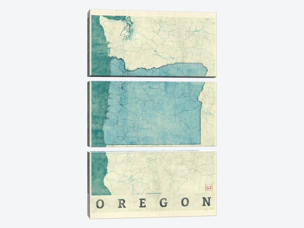 Oregon Map by Hubert Roguski 3-piece Art Print