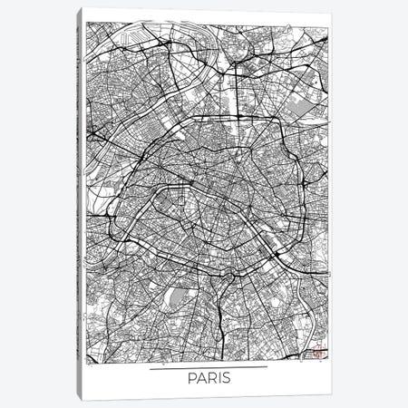 Paris Minimal Urban Blueprint Map Canvas Print #HUR286} by Hubert Roguski Art Print