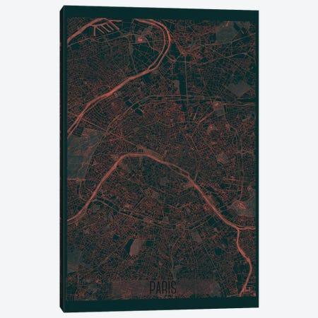 Paris Infrared Urban Blueprint Map Canvas Print #HUR287} by Hubert Roguski Canvas Print