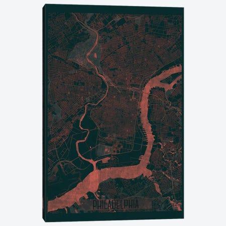 Philadelphia Infrared Urban Blueprint Map Canvas Print #HUR293} by Hubert Roguski Canvas Art Print
