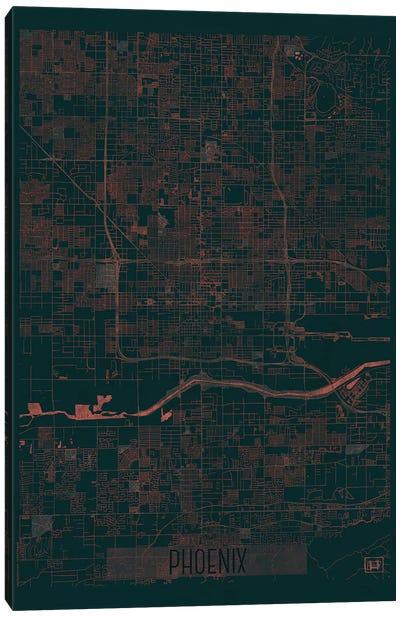 Phoenix Infrared Urban Blueprint Map Canvas Art Print