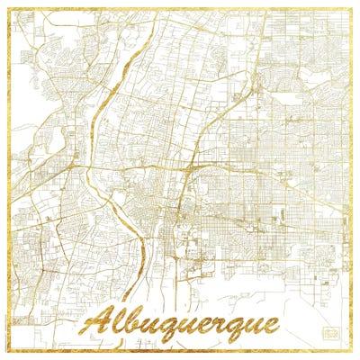 Albuquerque Gold Leaf Urban Blueprint Map Can... | Hubert Roguski ...