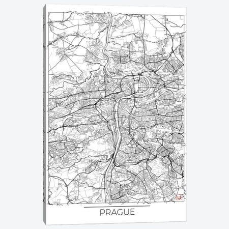 Prague Minimal Urban Blueprint Map Canvas Print #HUR312} by Hubert Roguski Canvas Artwork