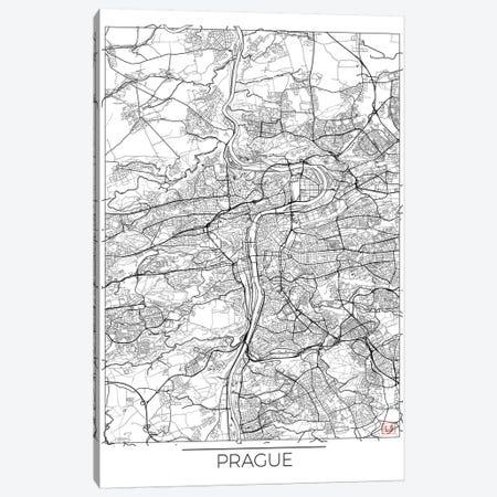 Prague Minimal Urban Blueprint Map Canvas Print #HUR312} by Hubert Roguski Canvas Artwork