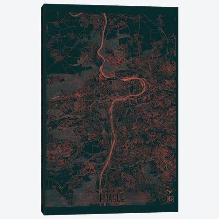 Prague Infrared Urban Blueprint Map Canvas Print #HUR313} by Hubert Roguski Canvas Art
