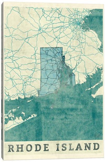 Rhode Island Map Canvas Art Print