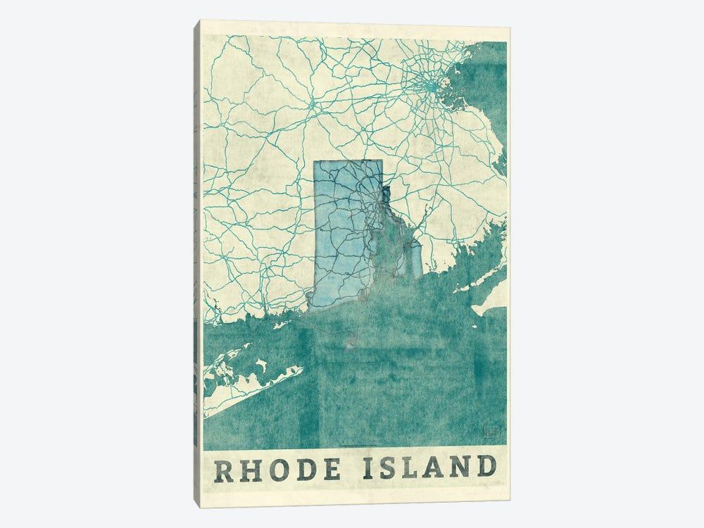 Rhode Island Map by Hubert Roguski 1-piece Canvas Art Print